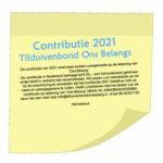 De contributie van 2021 moet weer worden overgemaakt