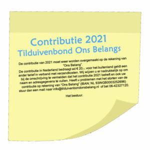 Contributie 2021